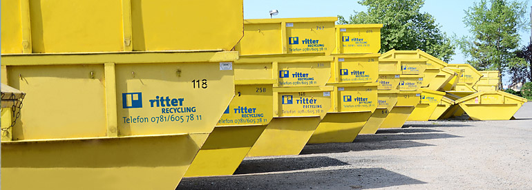 Container bei Ritter Recycling + Container aus Schutterwald
